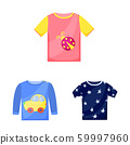 Vector illustration of baby and kid logo. Collection of baby and child vector icon for stock. 59997960