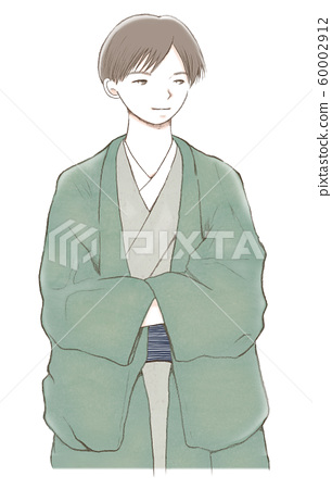 A young man wearing a kimono 60002912
