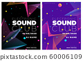 Music festival poster with abstract gradient lines, template design. Colorful Waves Gradient Background. Template for Poster, Web Banner, Pop-Up, presentation, brochure. Geometric template vector. 60006109