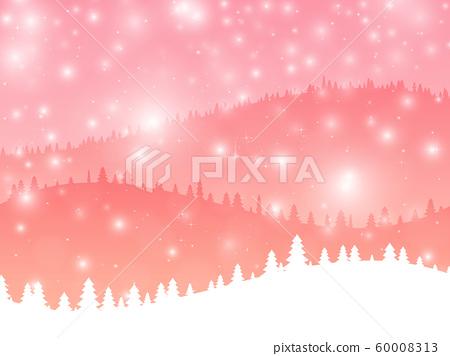 冬季雪山背景(粉紅色)[閃光+耀斑] 60008313