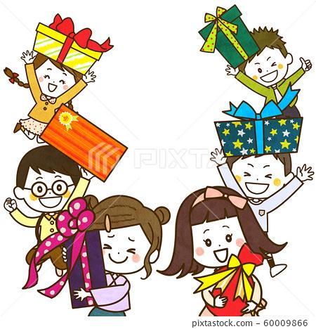 禮物和兒童插圖 60009866