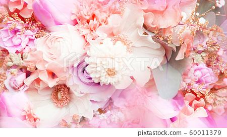 배경 - 꽃 - 핑크 60011379