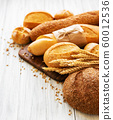 Assortment of baked bread 60012536