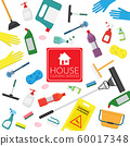vector set of household supplies cleaning product , tools of house cleaning isolated on white background. template with copy space for text and logo for cleaning service company 60017348