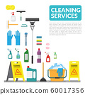 vector set of household supplies cleaning product , tools of house cleaning isolated on white background. template with copy space for text and logo for cleaning service company 60017356