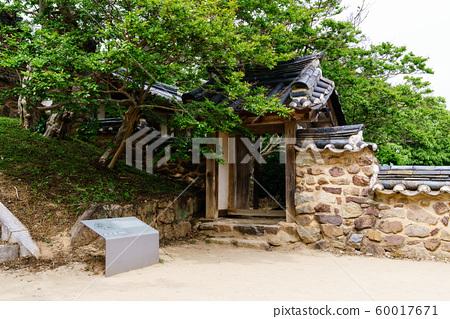 한국 안동 전통 한옥의 아름다운 목조 건물 60017671