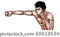 拳擊,直打,拳打,說話,戲劇性,卡通,插圖,熱血,戰鬥,戰鬥, 60019504