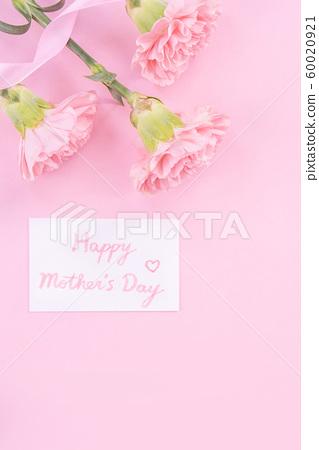 母親節Yasuno Kaoru鮮花康乃馨頂視圖母親節 60020921
