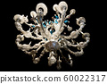 murano glass chandelier isolated on black 60022317