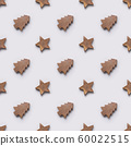 Seamless pattern of wooden Christmas tree and 60022515