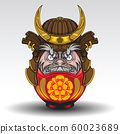 Daruma dall have on Samurai Warrior Armor., Tattoo 60023689