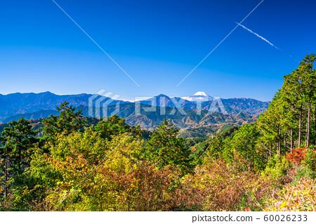 東京高尾山的霧島台的富士山 60026233
