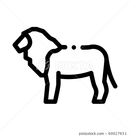 Lion Icon Vector Outline Illustration Stock Illustration 60027651 Pixta You could find here all the outline images of people, nature, animals, birds, fishes, objects, etc. pixta
