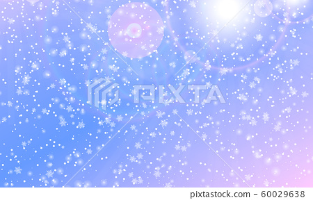 Snowflakes background. Vector. Falling snow. 60029638