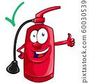 Cartoon mascot  of fire extinguisher . 60030539