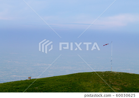 Isolated windsock on blue sky, sport background 60030625