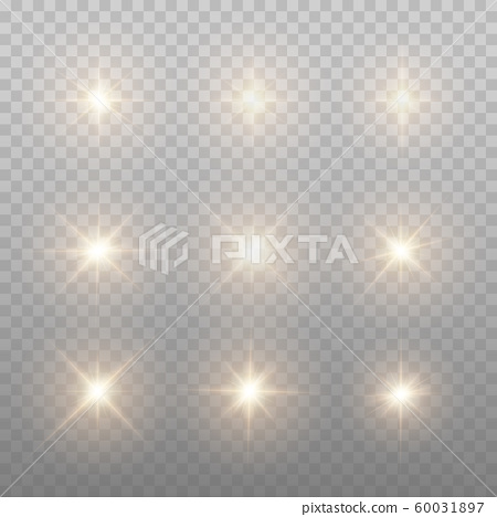 Gold Sparks Isolated. Vector Stars.  60031897
