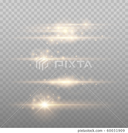 Gold Lens flars vector illustration 60031909