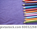 Multicolored, bright, motley wooden pencils  60032268