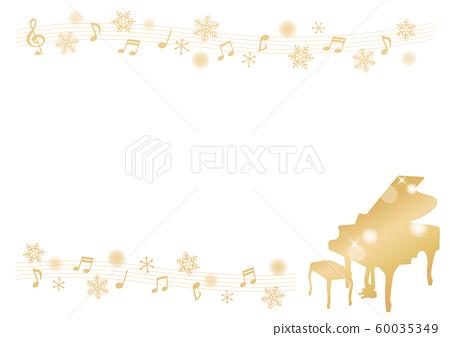 골드 피아노 프레임 60035349