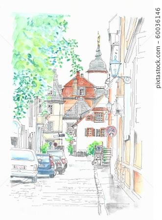 世界遺產城市街道,德國上海德堡 60036146