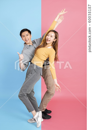 Portrait Of Happy Young Loving Couple 60038187