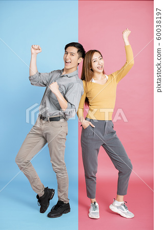 Portrait Of Happy Young Loving Couple 60038197
