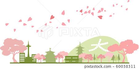 京都剪影顏色春天 60038311