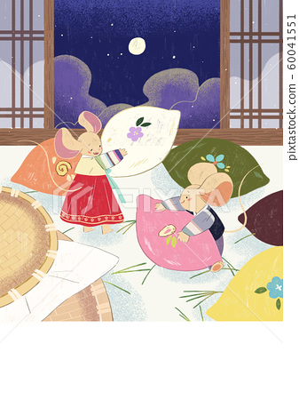 Cute Calendar and banner template for year of rat 2020 008 60041551