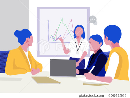 Office, teamwork, brainstorming in flat style colorful illustration 004 60041563