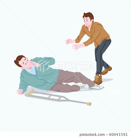 Live together, helped the disabled people illustration 007 60041591