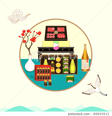 Sale banners, Promotion, and Invitation template for Korean holiday season offer on Korean traditional style background illustration. 003 60041611