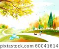Painting of beautiful Aautumn landscape illustration 003 60041614