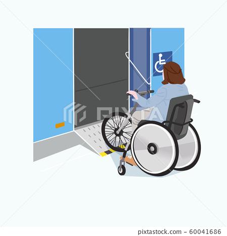 Live together, helped the disabled people illustration 020 60041686