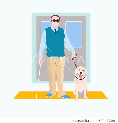 Live together, helped the disabled people illustration 002 60041709
