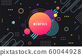 Memphis Style Poster. Fluid Color Backgrounds with Gradient Elements. Flat style Abstract Vector Design idea for Banner, poster 60044928
