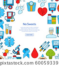 Vector colored diabetes icons with place for text 60059339