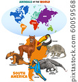educational illustration of cartoon South American 60059568