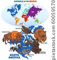 educational illustration of cartoon North American 60059570