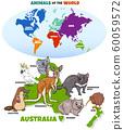 educational illustration of cartoon Australian 60059572