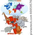 educational illustration of cartoon African 60059576
