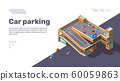 Isometric multi level car parking with automobiles 60059863