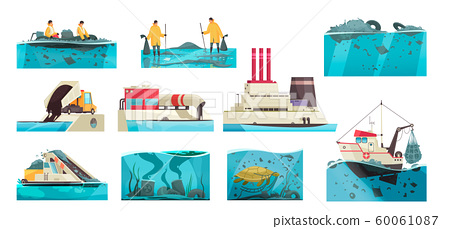 Water Pollution Icon Set 60061087