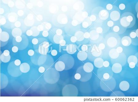 Abstract white bokeh light on blue background vector illustration. 60062362