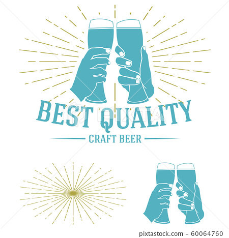 Craft Beer company badge. Vintage sign or label 60064760