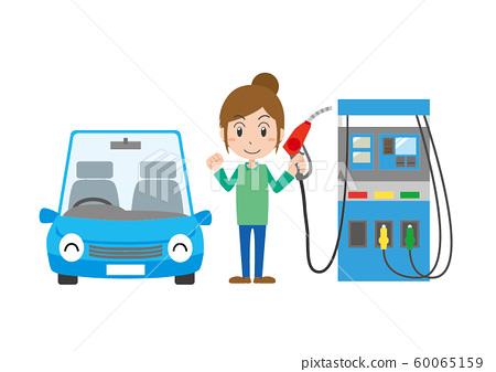 Gasoline refueling female 60065159