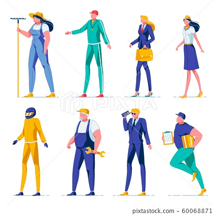 Occupation for Man and Woman Vector Illustration. 60068871