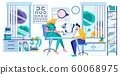 Ophthalmologist Examining Male Patient Vision 60068975
