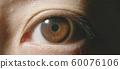 Macro shot of brown eye 60076106