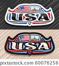 Vector logo for USA 60076256
